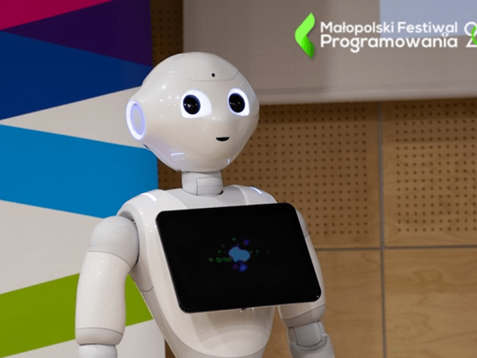 małopolski festiwal programowania  W czym zastąpią nas roboty i sztuczna inteligencja? WSEI na konferencji. malopolski festiwal programowania 960x720