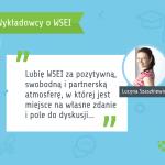 Wykładowcy o WSEI Lucyna Szaszkiewicz  Co nasi wykładowcy sądzą o WSEI? wsei wykladowcy o uczelni plansza lucyna szaszkiewicz 150x150