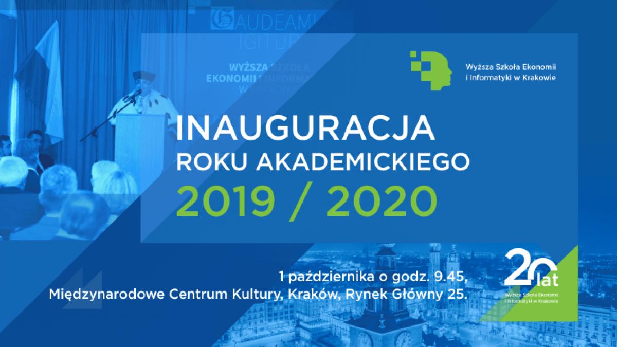 inauguracja roku akademickiego 2019/2020 na WSEI  Inauguracja roku akademickiego 2019/2020 wsei inauguracja 2019 2020 plansza www 1200x675