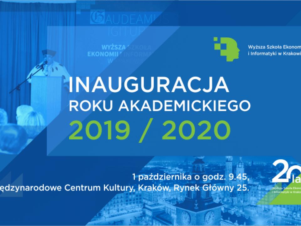 inauguracja roku akademickiego 2019/2020 na WSEI  Inauguracja roku akademickiego 2019/2020 wsei inauguracja 2019 2020 plansza www 960x720