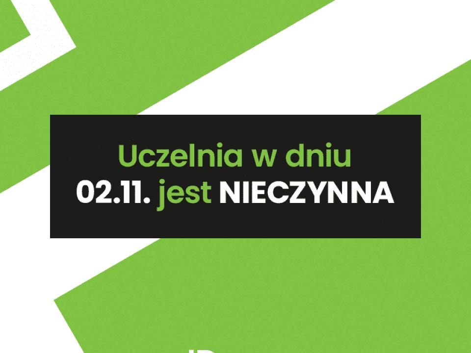 informacja wsei  Informujemy, że dnia 2.11.2019 Uczelnia będzie nieczynna. wsei fb wsei zamkniete 20191027 960x720