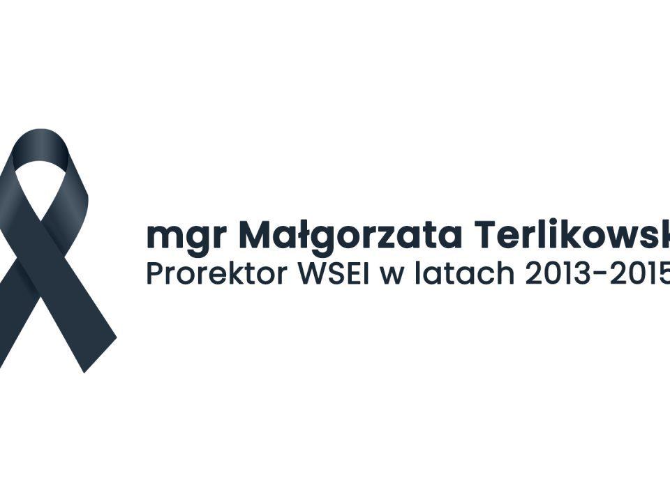 Pożegnanie mgr Małgorzaty Terlikowskiej – Prorektor WSEI mgr Ma  gorzata Terlikowska prorektor WSEI w latach 2013 2015 960x720